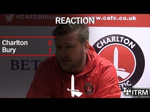 REACTION  Karl Robinson assess Bury defeat