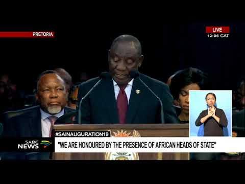 #INAUGURATION19 I President Cyril  Matamela Ramaphosa speech