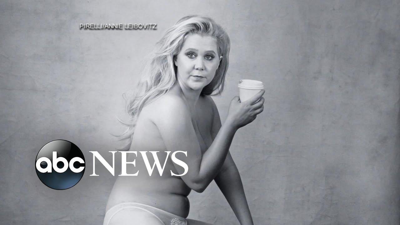 Amy Schumer Nua amy schumer goes semi-nude for calendar shoot