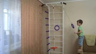 видео шведские стенки для детей в квартиру