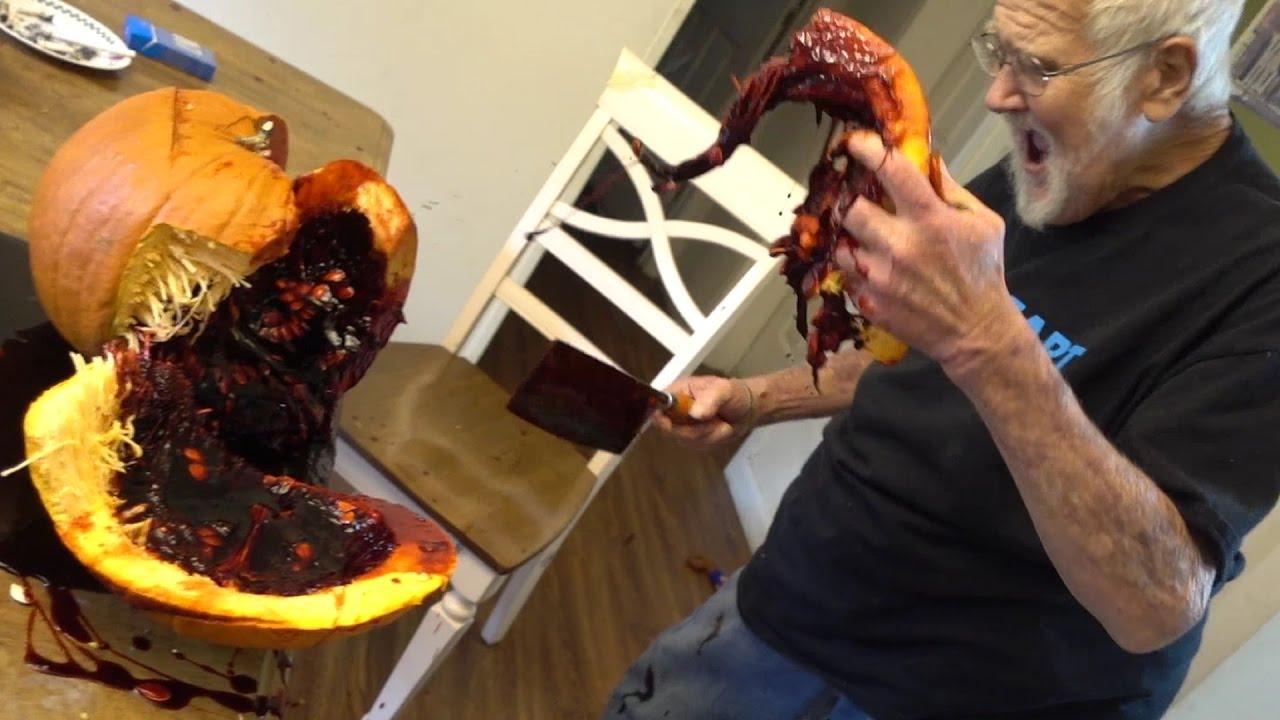 Angry Grandpa Dead >> THE FAKE BLOOD FILLED PUMPKIN!! (PRANK) | Doovi