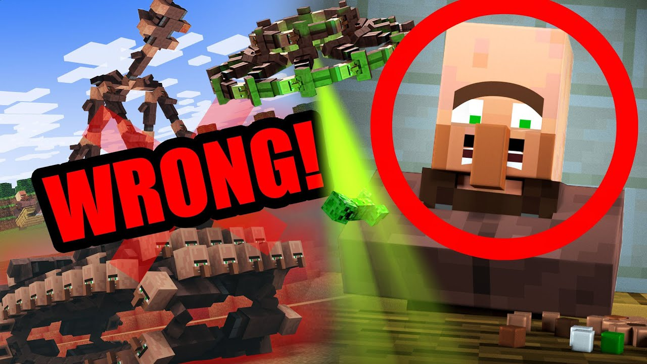 Everything WRONG with our videos: VILLAGER NEWS 2, 3 & 4!