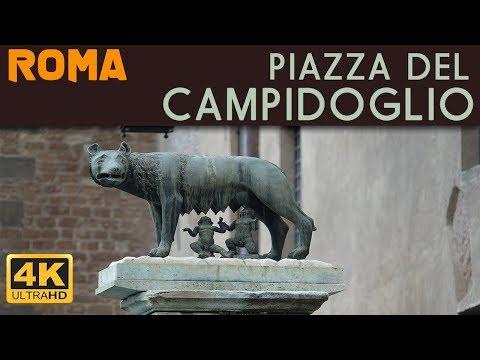 ROMA - Piazza del Campidoglio e la Statua Equestre di Marco Aurelio
