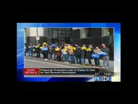 Pittsburgh WPXI: Pro-Life Activists Urge Sen. Bob Casey to #ConfirmGorsuch