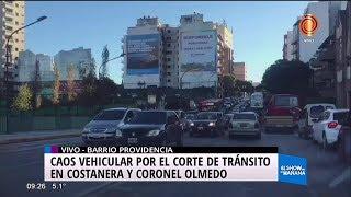 Caos vehícular en la Costanera y zonas aledañas