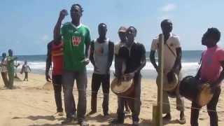 Zouglou music in Grand-Bassam, Cote d'Ivoire