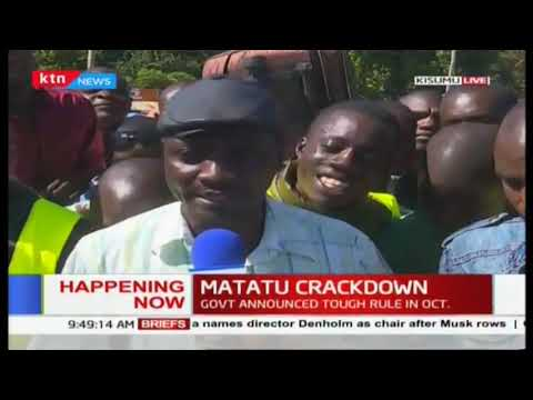 Kisumu residents decry Matatus tripled fares as gov\'t starts countrywide crackdown   #MichukiRules