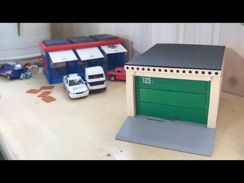 Игрушка гараж - в сравнении 3-х секционный и разборный