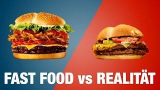MC DONALDS vs BURGER KING - Werbung vs Realität  mit Malternativ