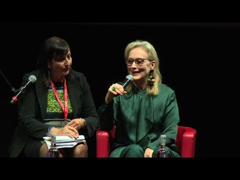 Meryl Streep gives a masterclass at the Rome Festival