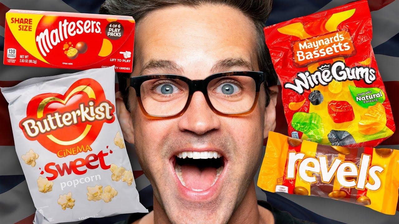 British Movie Theater Snacks Taste Test Ft. Sorted Food
