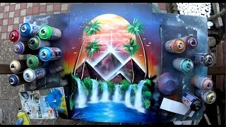 Oasis -  Spray Paint Art by Skech