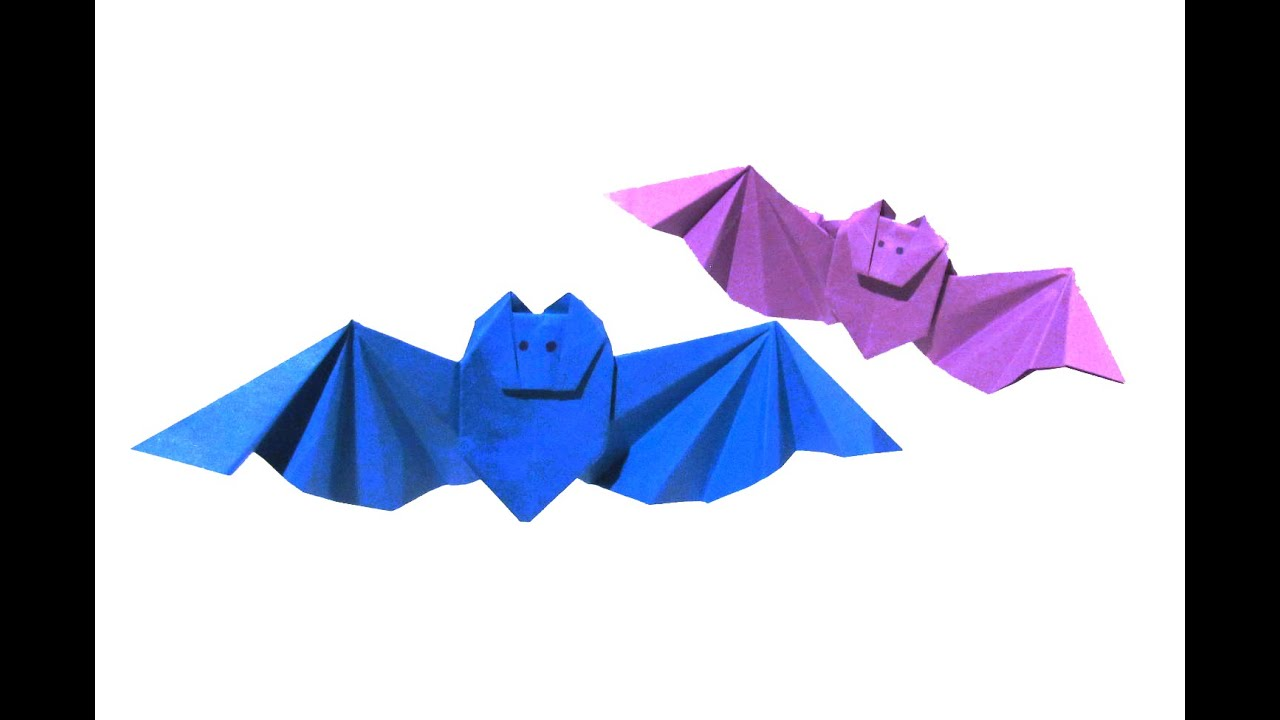 halloween origami bat first version easy origami