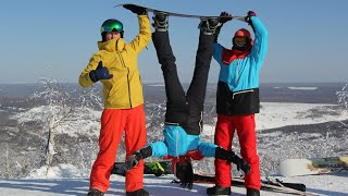 3 серия Путешествие ЖизньВкайф горнолыжный курорт Губаха снегоходы покатушки
