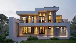 Проект дома в стиле Хай Тек. Дом с гаражом, террасой, балконом и сауной. Ремстройсервис RH-339