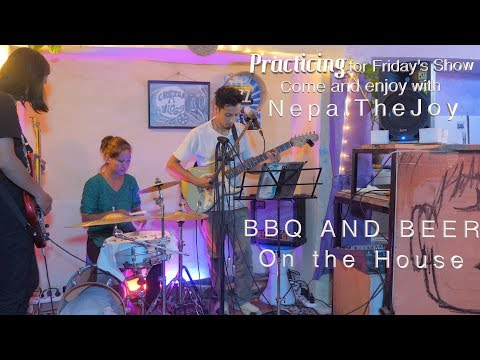 Friday Salsa and Live Music updates  NepalTheJoy practicing songs for gigs