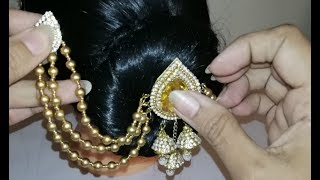 Stunning hair accessories making with bead caps