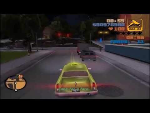 GTA 3 - Taxi Driver 100 Fares in a Row (100% Completion Walkthrough)