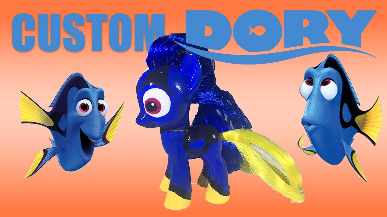 custom finding dory mlp my little pony tutorial youtube