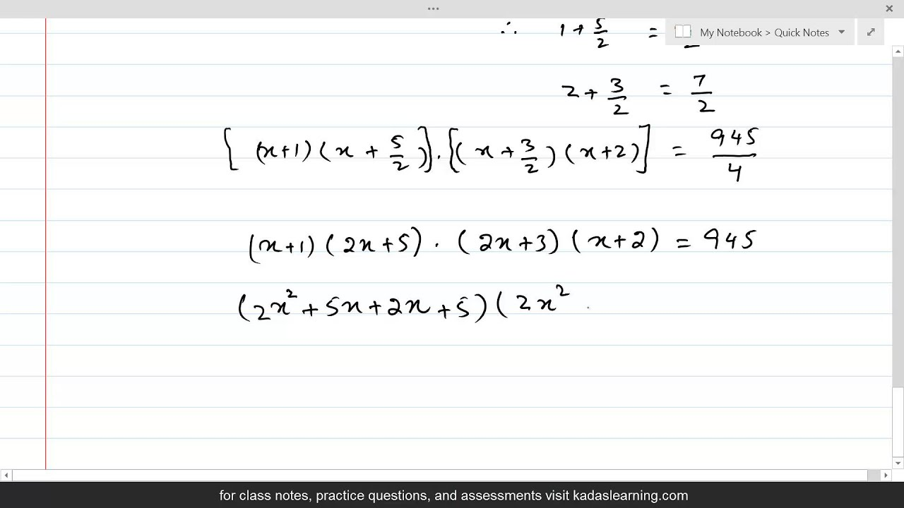 equation reducible to quadratic equation