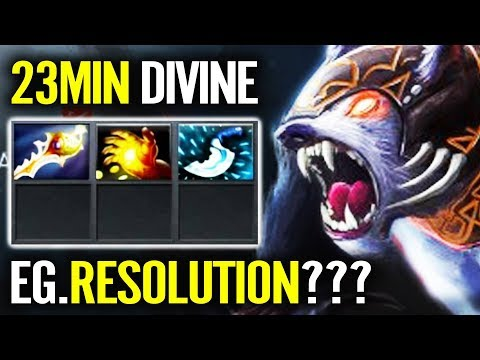 URSA 23 min Divine Rapier NEW CANCER 7.21 Epic IMBA Build Dota 2 by Resolut1on