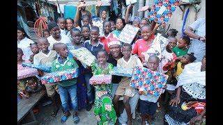 Hamed Bakayoko en père Noël à ABOBO