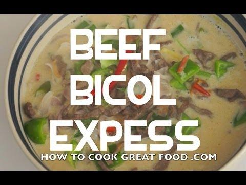 Paano magluto Beef Bicol Express Recipe Pinoy Cooking Philippines Filipino - Tagalog English Baka