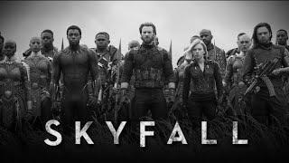 Skyfall ft. Infinity War😭 || Infinity War Music Video || Skyfall Infinity War ||