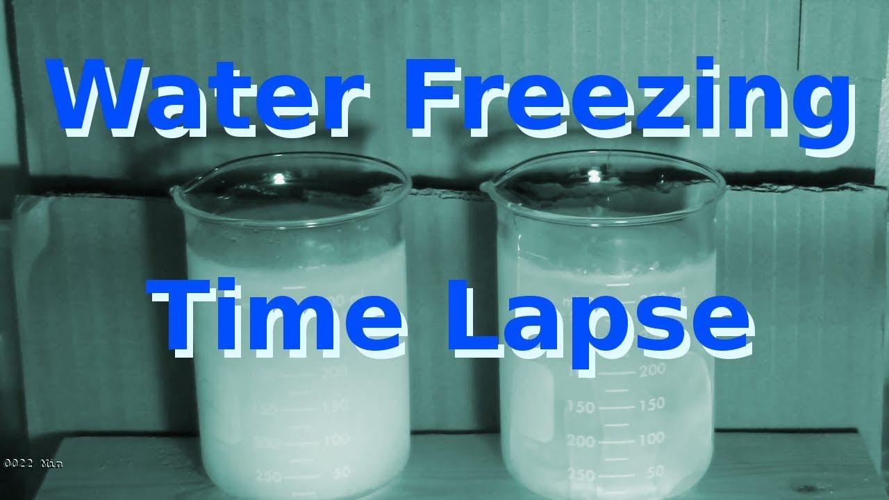 Water Freezing and Ice Melting Time Lapse
