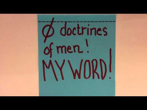 🚫 doctrines of men!