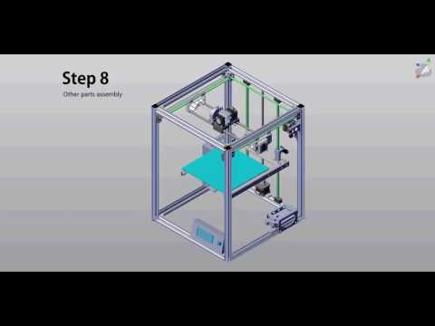 hqdefault flyingbear p902 metal 3d printer kit assembly 08 youtube  at fashall.co