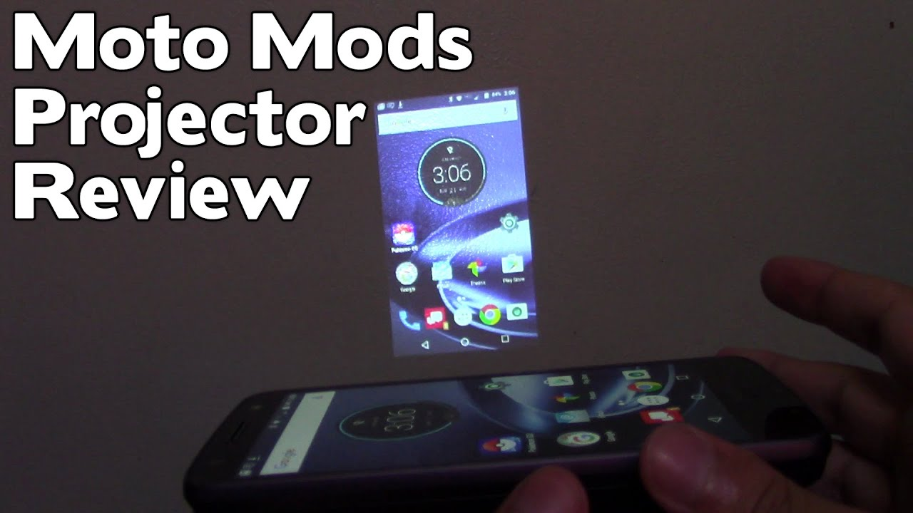 Moto Mods Insta-Share Projector & JBL Sound Boost [REVIEW]