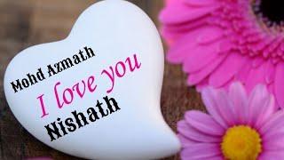 Mohd Azmath ❤Nishath name whatsapp status || dil me basi meri har ek saans ||