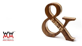 "Wood Ampersand, ""and"" Symbol. Great Gift Idea."