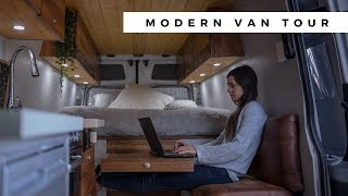 VAN TOUR | MODERN DIY SPRINTER CAMPERVAN CONVERSION