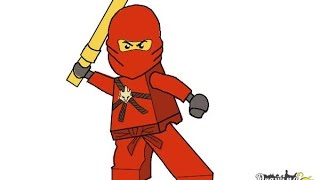 How to Draw Kai from Lego Ninjago