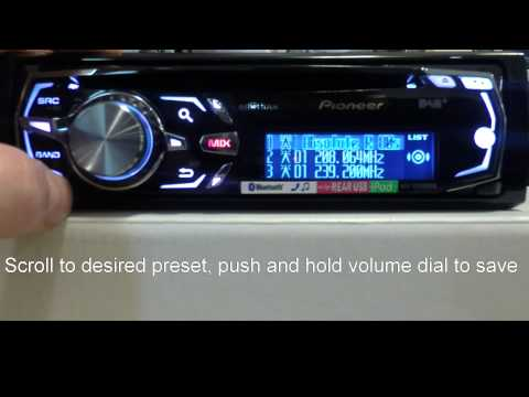 Pioneer: DEH-X8500DAB How to save radio presets