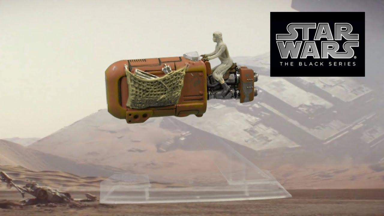 Rey et Son Speeder Figurine Black Series C1427 Star Wars