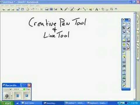 Teaching drawing tools for a smart board - YouTube