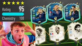 98 MBAPPE & NEYMAR IN MY GREATEST 195 RATED FUT DRAFT CHALLENGE - FIFA 20