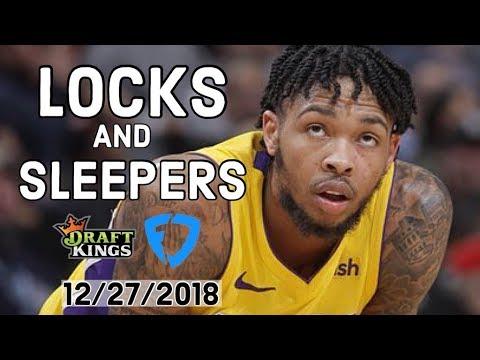 NBA 12/27/2018 DraftKings and FanDuel Locks and Sleepers — Locks DFS