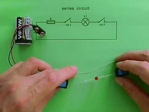 series circuit - 1 led & 2 switches - youtube 4 way switch wiring series #5