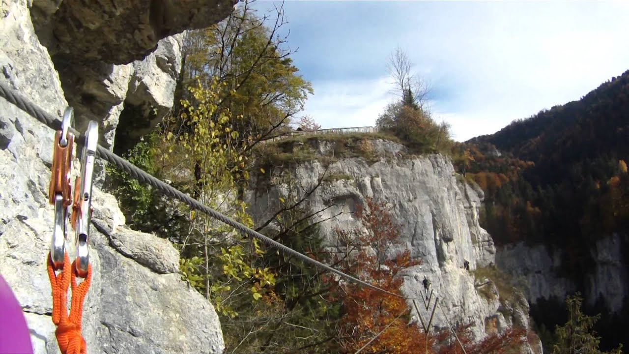 Klettersteig Jura : Klettersteig echelles de la mort youtube