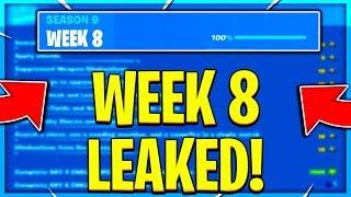 FORTNITE SEASON 9 WEEK 8 CHALLENGES LEAKED! WEEK 8 ALL CHALLENGES EASY GUIDE! (Fortnite Challenges)