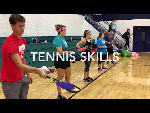 Tennis lead up skills for high school physical education