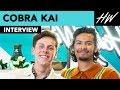 """Cobra Kai"" Jacob Bertrand & Xolo Maridueña Reveal Why Peyton List Made Them Nervous! | Hollywire"
