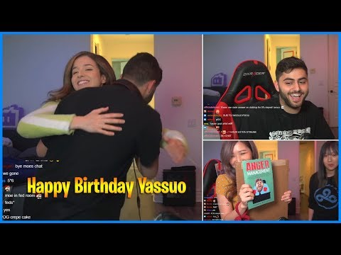 Yassuo receives birthday presents from Hyoon and Pokimane while streaming | LoL Daily Moments Ep 503