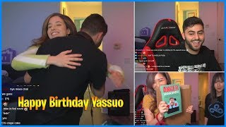 Yassuo receives birthday presents from Hyoon and Pokimane while streaming   LoL Daily Moments Ep 503