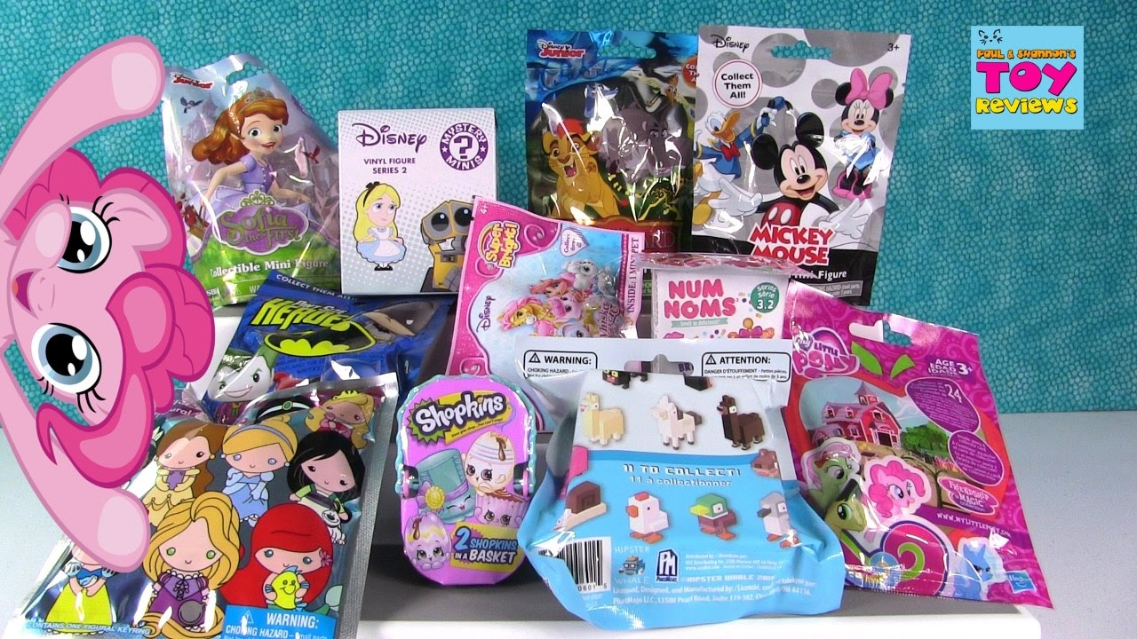 Disney Crossy Road Num Noms Shopkins Mlp Blind Bag Opening