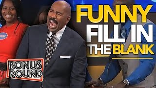 8 FUNNIEST FILL IN THE BLANK ANSWERS On Family Feud | Bonus Round
